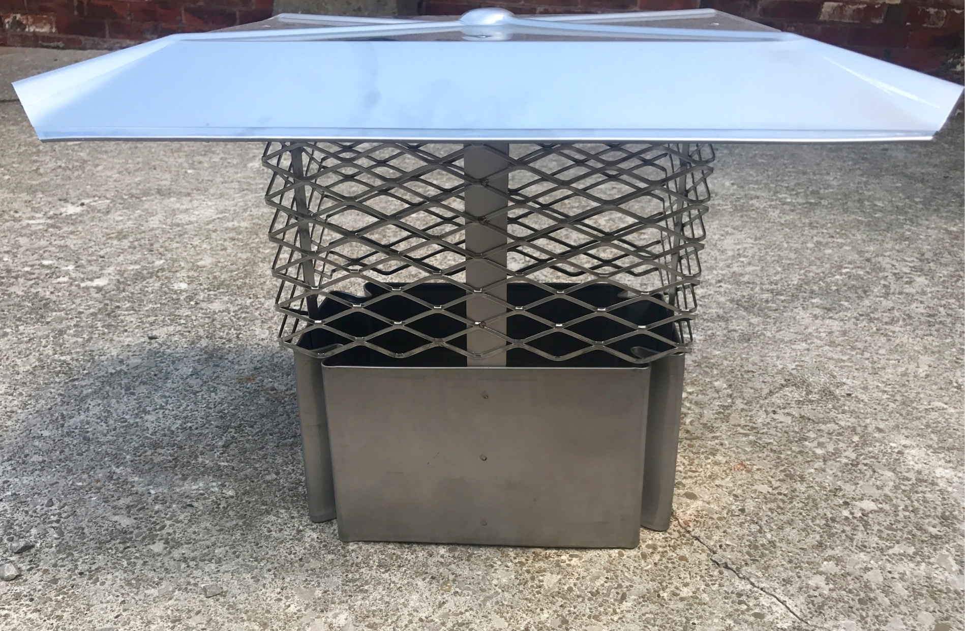Stainless steel chimney covers installed to keep rain and animals out, guaranteed.